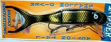 "9"" Shallow Invader Musky Innovations Muskie Pike Black Perch Crankbait 10918"