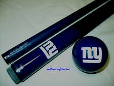 NFL New York Giants Billiard Pool Cue Stick & Team Logo Cue Ball Combo ~ NEW !