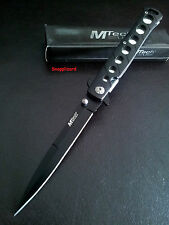 "Stiletto 5"", MTech USA,Tactical Folding Pocket Knife Black Stiletto Blade EDC"