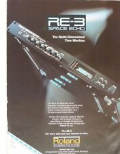 retro magazine advert 1989 ROLAND re-3 space echo