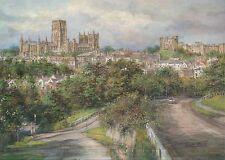 Durham City England, Castle & Cathedral, UK - Modern United Kingdom Art Postcard