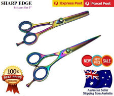 """5"""" Professional Barber Hair Cutting Thinning Scissors Shears Hairdressing Set"""