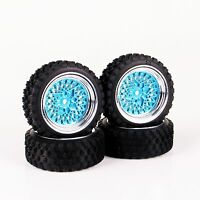 RC 4Pcs Rally Tires&Wheel Rim 12mm Hex For 1:10 off road Model Car rubber tyres
