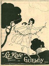 """Publicité Ancienne """" Parfum La Rose de GUELDY 1918 ( P 35 )"""