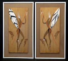 1960s HOUSE OF RANSU Vintage MID-CENTURY MODERN Wooden ART SCULPTURE Wall Plaque
