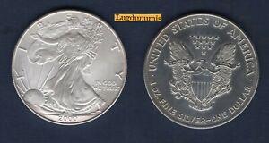 Etats Unis USA 1 Dollar 2000 American Eagle Once D argent 999 %