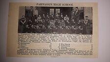 Parnassus High School & Perkiomen Pennsburg HS PA 1927 Football Team Picture