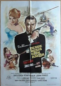 From Russia with Love ORIGINAL Spain '74 POSTER 007 James Bond Mac striking art