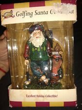 New In Box Golfing Santa Christmas Ornament Collectible by Golf Gifts & Gallery