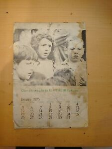 1975 Very Rare Irish Republican Resistance Calender Try Find Another The Same