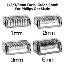 1 2 3 5mm Facial Guide Comb Body Skin Salon Trimmer Clipper For Philips OneBlade