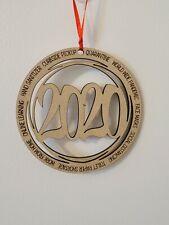 2020 Pandemic Ornament - Handmade/USA~CHRISTMAS GIFT~WOOD~VIRUS.