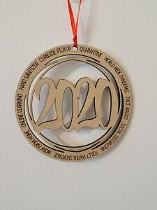 2020 Pandemic Ornament - Handmade/USA~CHRISTMAS GIFT~WOOD TOY~VIRUS.