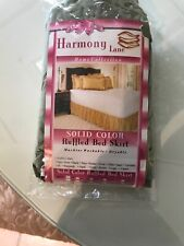 Harmony Lane Solid Ruffled Bed Skirt, Complete Dust Ruffle-Full Size.Sage (Nib)