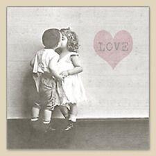 3 Paper Napkins for Decoupage / Tea Parties / Weddings - Vintage LOVE