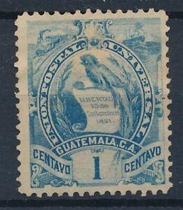 [34814] Guatemala 1886 Good stamp Very Fine Mint no gum