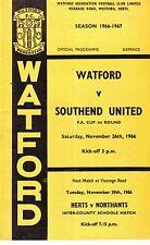 Watford V Southend FA Cup 26 NOV1966 hace 48 años! Eddy, Bond, Firmani, puede en muy buena condición
