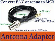 MCX male/ BNC female adapter connector 4 receiver GPS GSM DVB-T Marine Boater BN