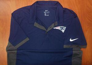 Nike NFL New England Patriots Football Dri-Fit On Field Coaches Polo Shirt L