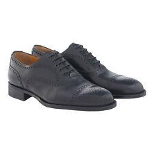 A.TESTONI Calf Leather Brogue Oxfords 10US 9UK 43Eu Goodyear Bolognese Black
