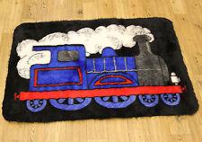 Small 70cm Toy Train Print Kid's Playroom Fake Sheep Skin Soft Fur Clearance Rug