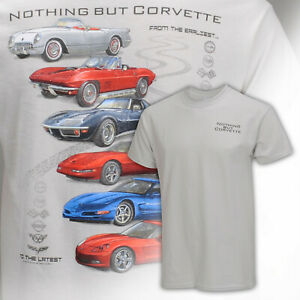 Nothing But Corvette From the Earliest T Shirt in Ice Gray Color 646910
