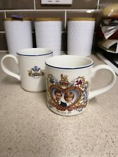 A Pair of Vintage Midwinter 1981 Prince Charles and Lady Diana Wedding Mugs