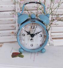 Wecker im Shabby Chic in Blau - Zauberhafte vintage Landhausstil Tischuhr