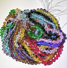 1,000 Glass Crystal Bicone Beads Wholesale Huge Lot 4mm 12 Colors 1000