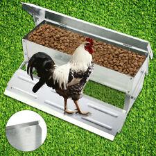 Automatic Aluminium Chicken Treadle Feeder Self Opening Waterproof Chook Poultry