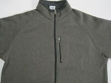 Columbia zip front jacket Gray chest pocket padded albows size XL