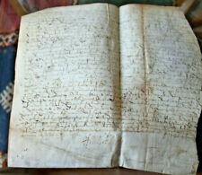LARGE 1600 manuscript parchment king Henry IV Lord autograph maltese cross