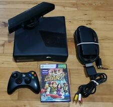 Xbox 360 S Slim 4Gb Console Bundle, Kinect, Controller, Power Av Game, Tested Vg
