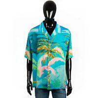 CELINE x TYSON REEDER 790$ Loose Hawaiian Shirt With Autobahn Print