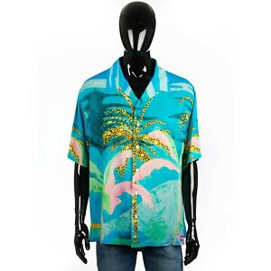 CELINE x TYSON REEDER 790$ Loose Hawaiian Shirt With Autobahn Print