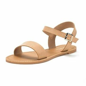 Womens Comfortable Open Toes Ankle Strap Flat One Band Comfort Flat Sandals 5-11