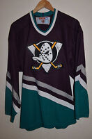 VINTAGE NHL ANAHEIM DUCKS USA ICE HOCKEY SHIRT JERSEY MAGLIA CCM