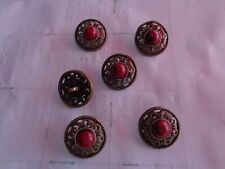 30x buttons with red stones 15m