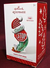 Hallmark Magic Ornament 2014 Santa Stop Here!, w/ Light & Sound, Christmas