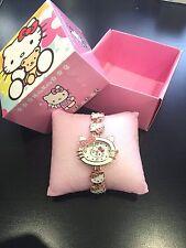 Reloj Pulsera Hello Kitty Niñas En caja Conjunto de regalo * Nuevo *