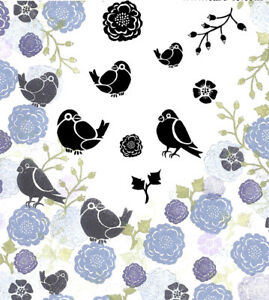 Card-io Bullfinches and Blooms Majestix Clear Peg Stamps CDMABU-01
