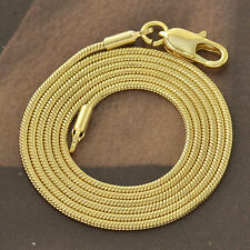 45cm*2mm Classic 9K Solid Gold Filled Ladies Snake Necklace F4140