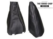 For Holden Viva 2002-2009 Gear & Handbrake Boot Black Leather White Stitching
