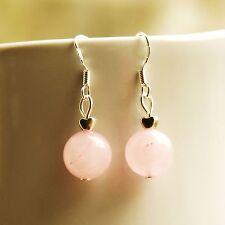 Rose Quartz Drop Earring With Sterling Silver Hooks New Handmade LB1275