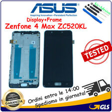 DISPLAY LCD +TOUCH SCREEN  +FRAME per ASUS ZENFONE 4 MAX ZC520KL X00HD NERO