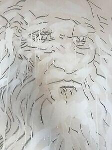 Mario Schifano litografia 74x74 Leonardo firmata numerata certificata