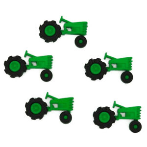 Childrens Buttons - Tractor - Plowin Thru - Novelty Buttons Cake Decorations