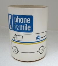 Ma Bell System Telephone Company Pencil Cup Phone Truck Pottery Small Flake SHP