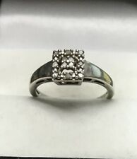 Real Diamond Ring Sterling Silver 925 Clarity I2