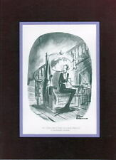 Chas Addams ADDAMS FAMILY - 'FRIDAY The 13th, SO MUCH TO DO' PRO MATTED PRINT